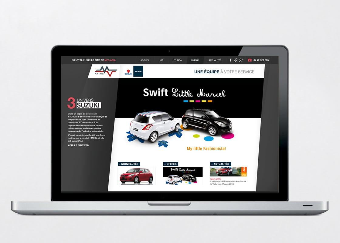 FX réalise le webdesign du site MV Asia
