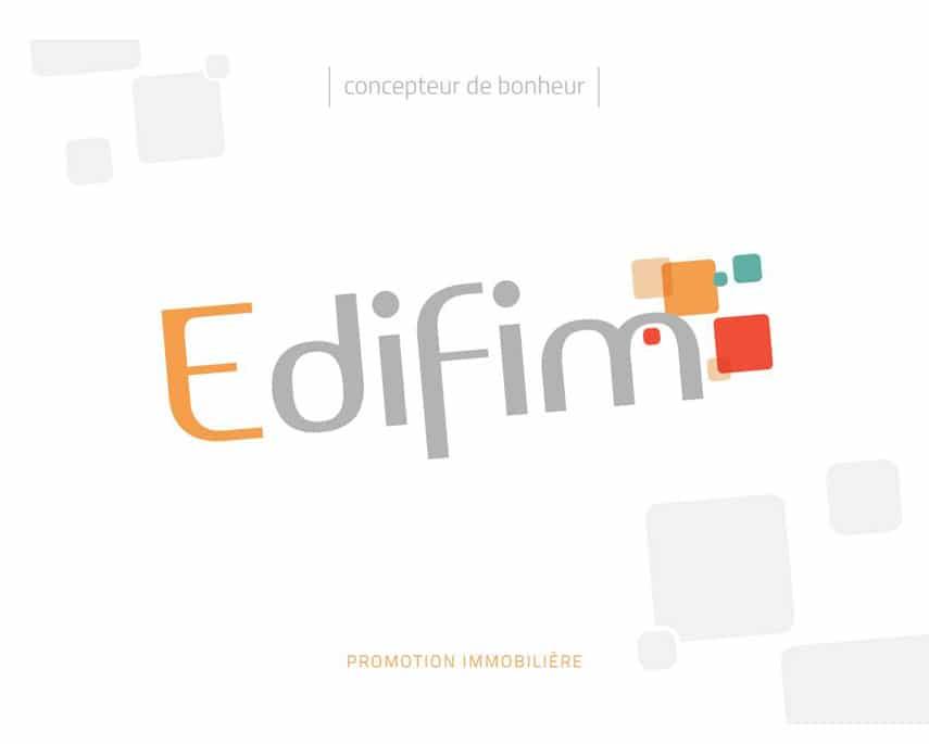 EDIFIM : l'élégant mariage de la plaquette institutionnelle et du promoteur immobilier