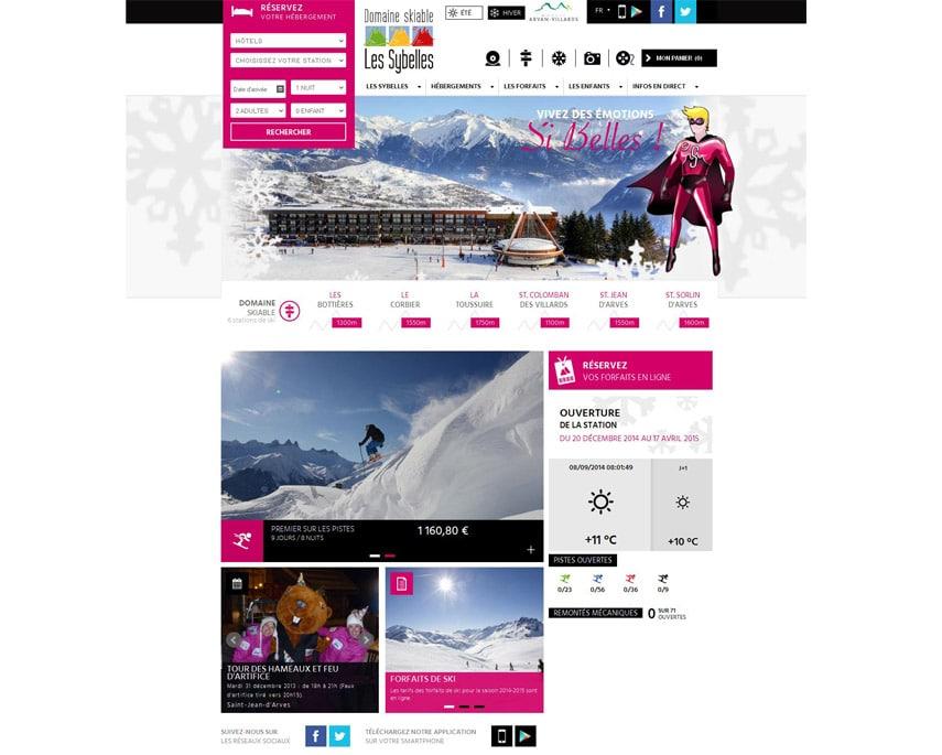 Les Sybelles : la communication digitale se rhabille pour l'hiver !