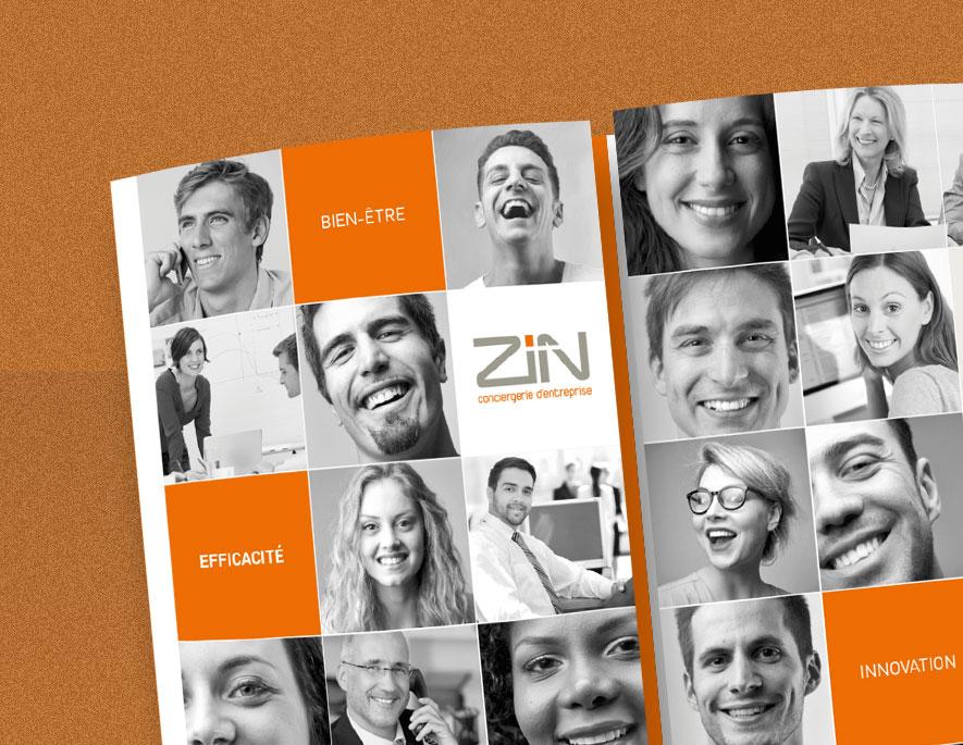 Les services à la personne présentées en plaquette pour ZIN Conciergerie d'entreprise