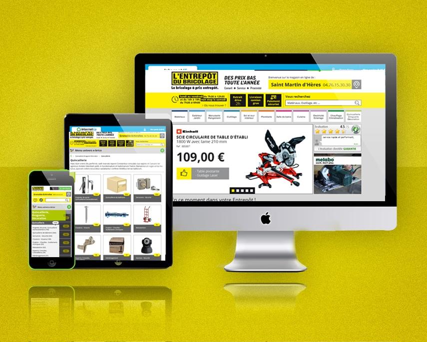 L'ENTREPÔT DU BRICOLAGE : nouveau site e-commerce