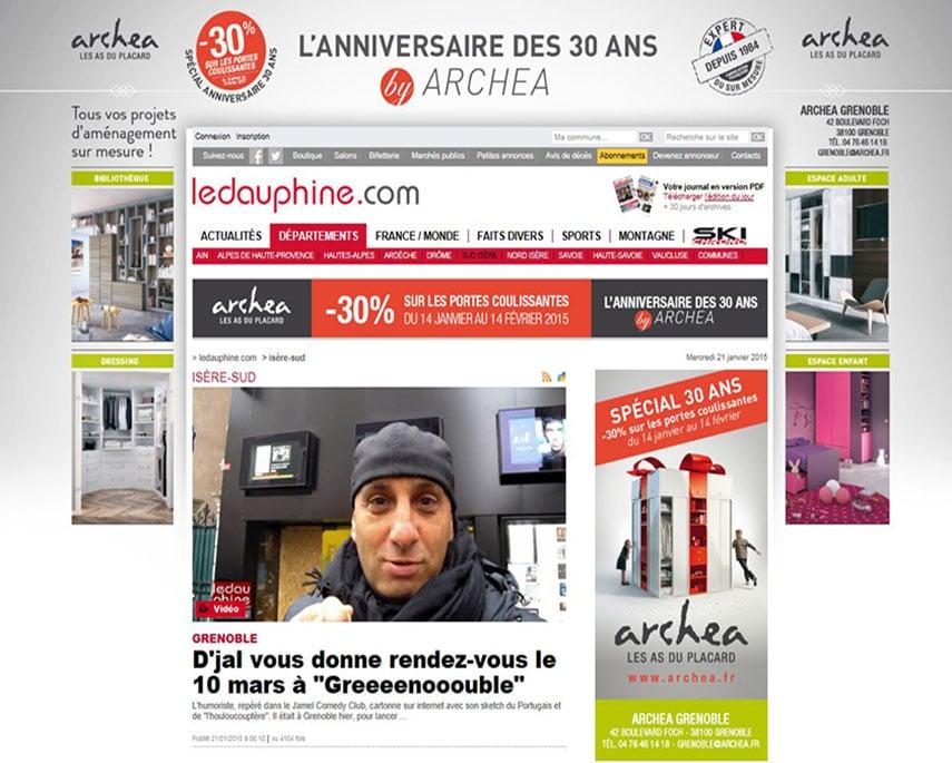 Opération spéciale anniversaire : Archea habille le site du Dauphiné Libéré !