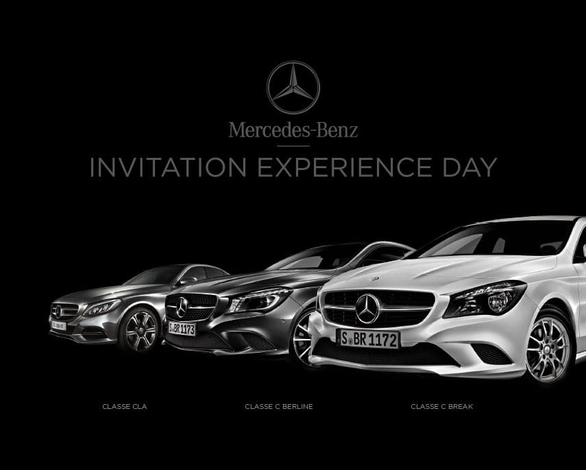 Groupe Huillier Mercedes : invitation Experience Day