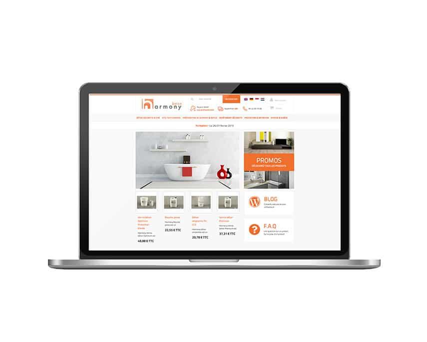 Harmony Béton : refonte du site e-commerce