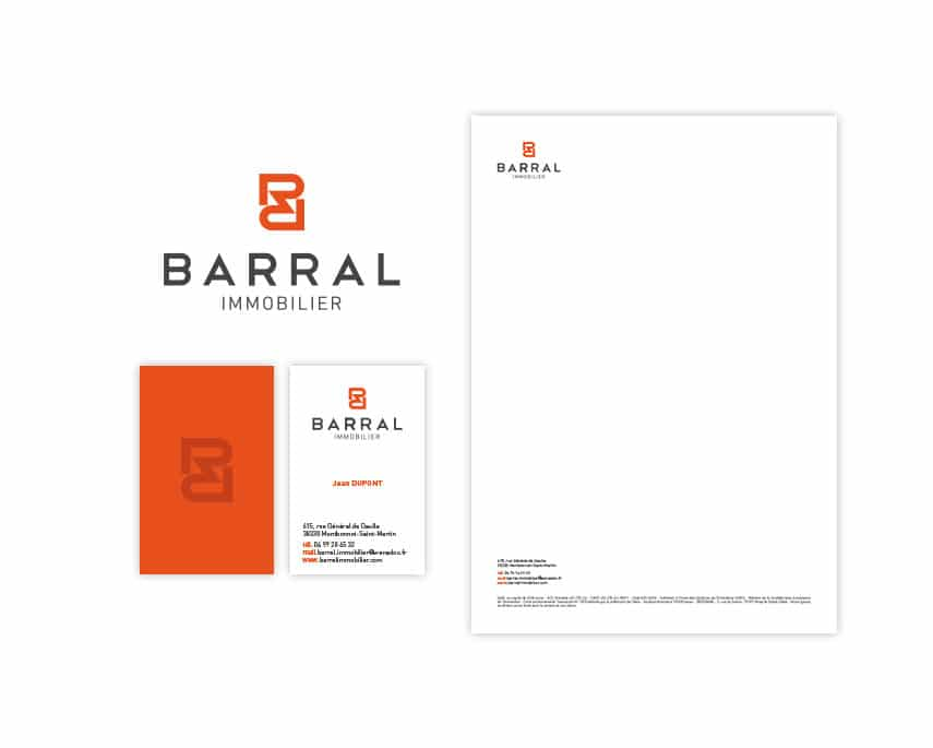 Barral Immobilier modernise son identité visuelle