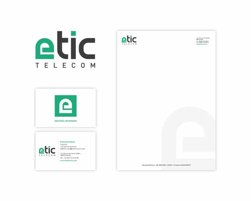 Etic Télécom – refonte de logo et nouvelle identité visuelle