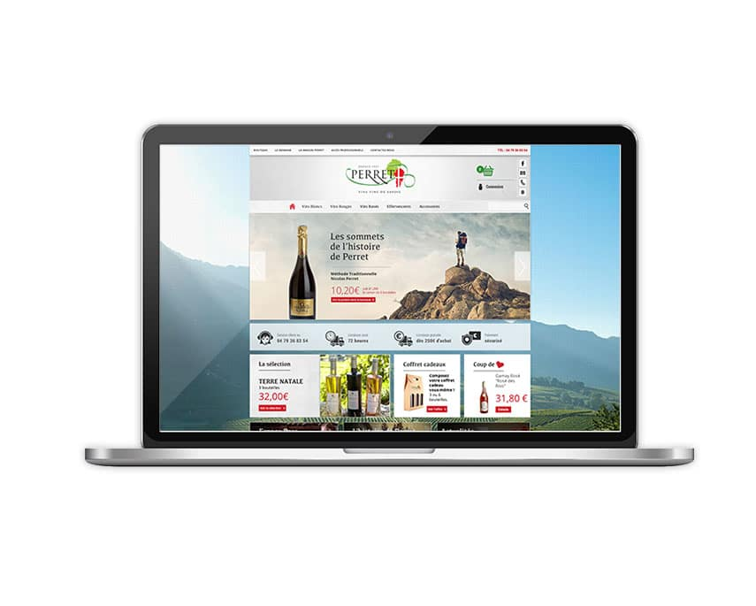SIte e-commerce Vins Perret