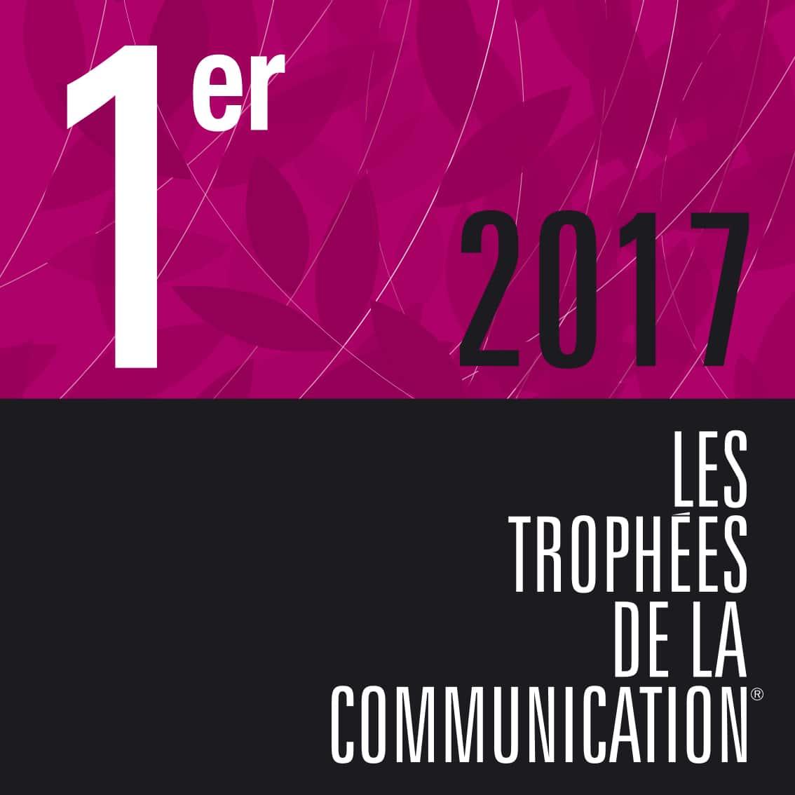 FX Com'Unik sur le podium des Trophées de la communication 2017