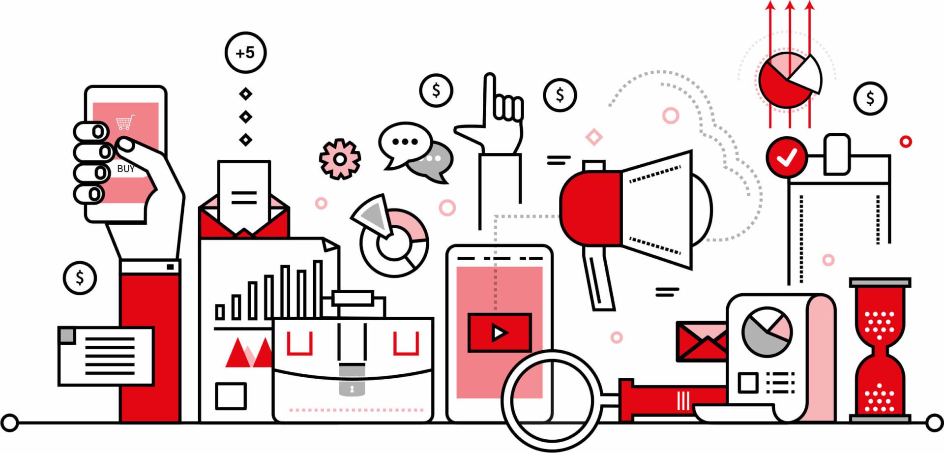 Infographie digital et marketing